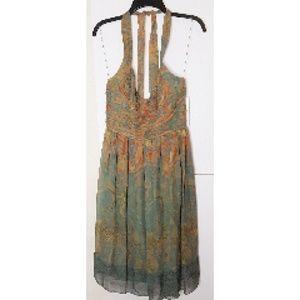 Adrianna Papell Dress NWT Greene /Or Silk Sz 10